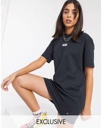 Vans Черное Повседневное Платье-футболка Эксклюзивно Для Asos-черный