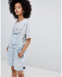 Cheap Monday - Cred Dungaree Tom Blue - Lyst
