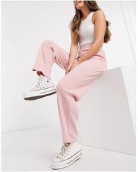 Miss Selfridge Wide Leg Trousers - Pink