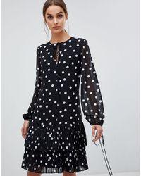 HUGO Spotty Smock Dress - Black