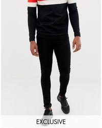 Collusion X001 Super Skinny Jeans - Black