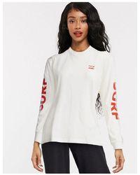 Billabong Surf Slice Long Sleeve Tshirt - White