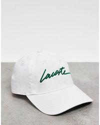 Lacoste Кепка С Рукописным Логотипом -кремовый - Многоцветный