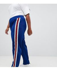 ASOS - Asos Design Curve Track Pants With Studded Side Tape - Lyst