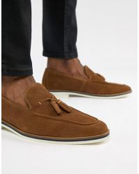 DESIGN Boat Shoes In Brown Suede With White Sole - Brown Asos kcmxF
