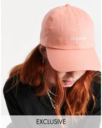Collusion Unisex Logo Cap - Pink