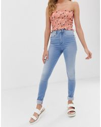 ONLY - High Waisted Skinny Jean - Lyst