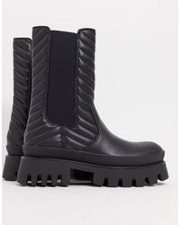 Bershka Pull On Ankle Boot - Black