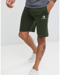 Converse - Logo Jersey Shorts In Green 10009143-a01 - Lyst