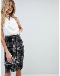 Vesper - 2-in-1 Dress With Check Skirt - Lyst
