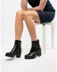 91c592feecc0ca Vagabond Nubuck Grace Double Zip Ankle Boot in Black - Lyst