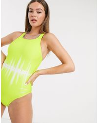House of Holland X Speedo Soundwave Swimsuit - Green