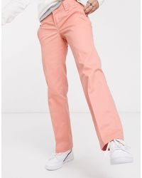 Dickies Pantalon droit court - Rose