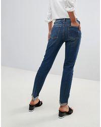 ASOS Asos - Kimmi - Shrunken Boyfriend Jeans - Blauw