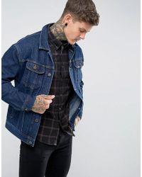 Lee Jeans - Oversized Rider Jacket Dark Wash Rigid Denim - Lyst