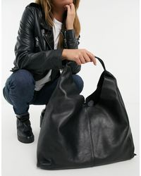 & Other Stories Leather Tote Bag - Black
