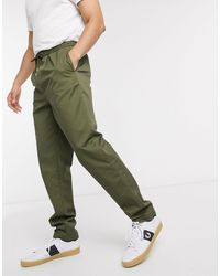 Fred Perry Drawstring Twill Trousers - Green