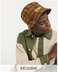 Reclaimed (vintage) Inspired Bucket Hat Co-ord - Brown