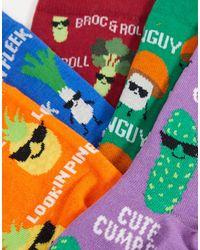New Look 5 Pack Printed Socks - Multicolour