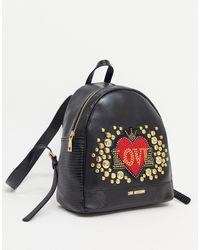 Love Moschino Черный Рюкзак С Заклепками Full Of Love-черный Цвет - Многоцветный