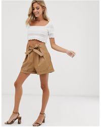 Glamorous Belted Shorts - Natural
