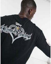 Bershka Черный Лонгслив С Принтом Kingdom Hearts -черный Цвет - Многоцветный