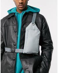 ASOS Cross Body Flight Bag With Metal Detail - Blue