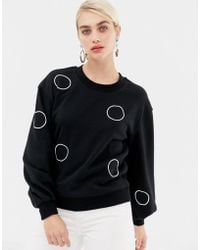 SELECTED - Brodie Graphic Sweatshirt - Lyst