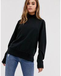 ASOS Sweat-shirt léger à col montant - Noir
