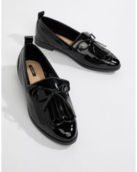 Pull&Bear - Patent Slip On Loafer - Lyst