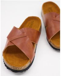 Office Silas Sandals - Brown