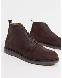 H by Hudson Troy Lace-up Boots - Brown