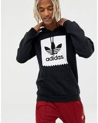 adidas Originals Худи Черного Цвета С Логотипом Cw2358 - Черный