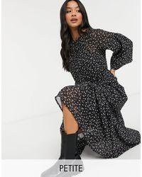 Vero Moda Платье Макси С Объемными Рукавами И Цветочным Принтом -многоцветный - Черный