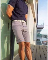 Burton Shorts With Belt - Blue