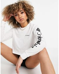 Columbia North Cascades Long Sleeve Cropped T-shirt - White