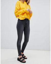WÅVEN Asa Mid Rise Skinny Jeans - Gray