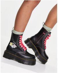 Dr. Martens Черные Ботинки X Hello Kitty & Friends Jadon-черный Цвет