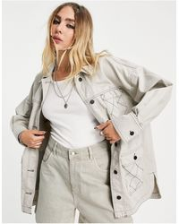 TOPSHOP Co-ord Lightweight Jacket With Quilt Detail - Multicolour