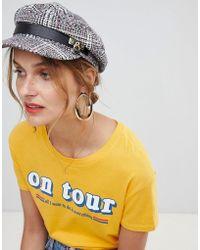 River Island - Check Baker Boy Hat In Multi - Lyst