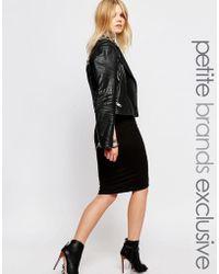 Noisy May Petite - Midi Tube Skirt - Black - Lyst
