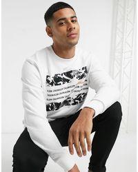 Calvin Klein Белый Свитшот С Квадратным Принтом