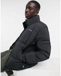 Bershka Padded Puffer Jacket - Black