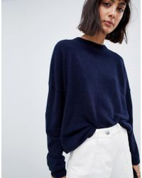 ASOS - 100% Cashmere Jumper With Crew Neck - Lyst