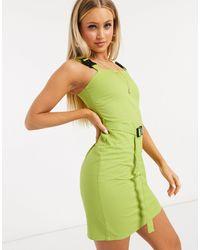 Daisy Street Зеленое Облегающее Платье С Ремешками И Пряжками -зеленый