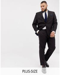 River Island Big & Tall Wedding Skinny Fit Suit Pants - Purple