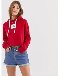 Hollister - Hoodie With Box Logo - Lyst