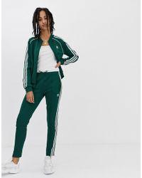 adidas Originals - Adicolor Three Stripe Cigarette Pant In Green - Lyst