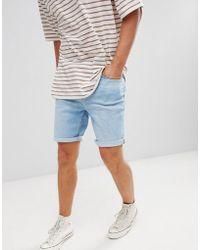 Vaqueros Shorts Azul De Ajustados Claro En 8n0wvmN