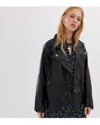 Collusion - Oversized Leather Look Biker Jacket - Lyst